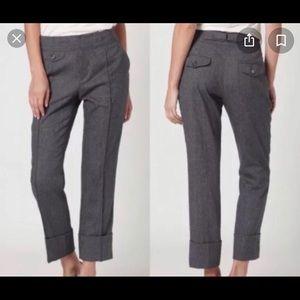 Cartonnier 6 Wool Gray Cuffed Pants